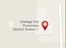 A map depicting the location of Oswego Fire Protection District Central Station #1
